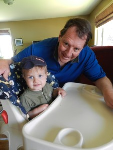 Greg, with our son, Alex.