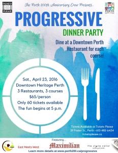 Progressive Dinner Party Poster Winter