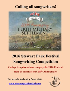2016 SPF Songwriting Competition poster