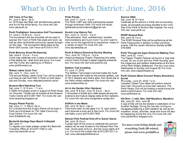 June 2016 events